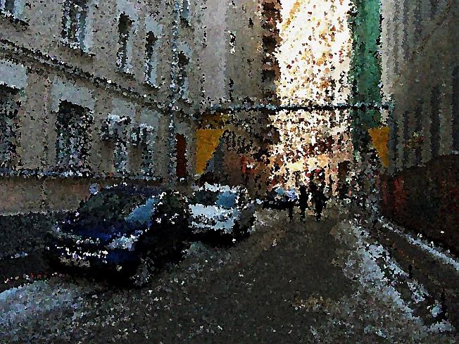 Москва.Проулок к Третьяковской галерее .