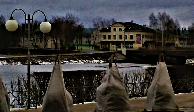 Вид с набережной г Александров.