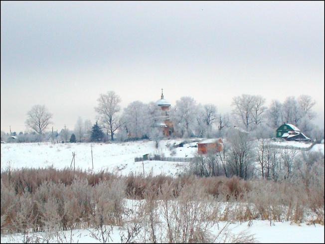 Пейзаж с видом на село Подсосино