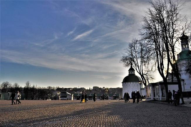 На Красногорской площади в Крещенский сочельник