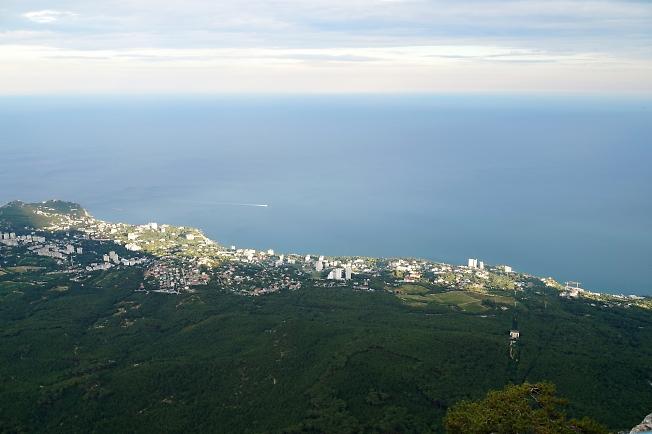 Вид с Ай-Петри на побережье