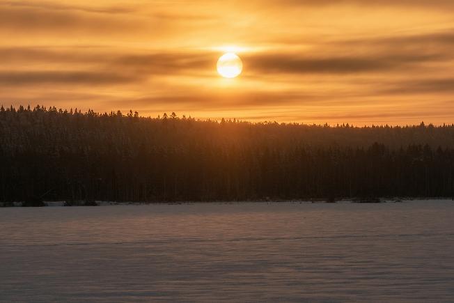 Утро на Торбеевском озере