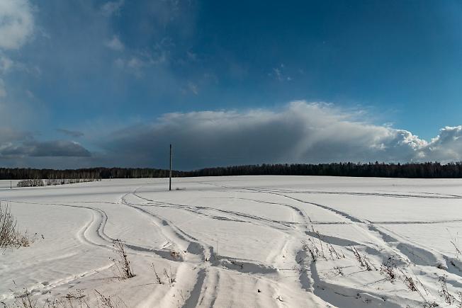 Поле, зимнее поле )