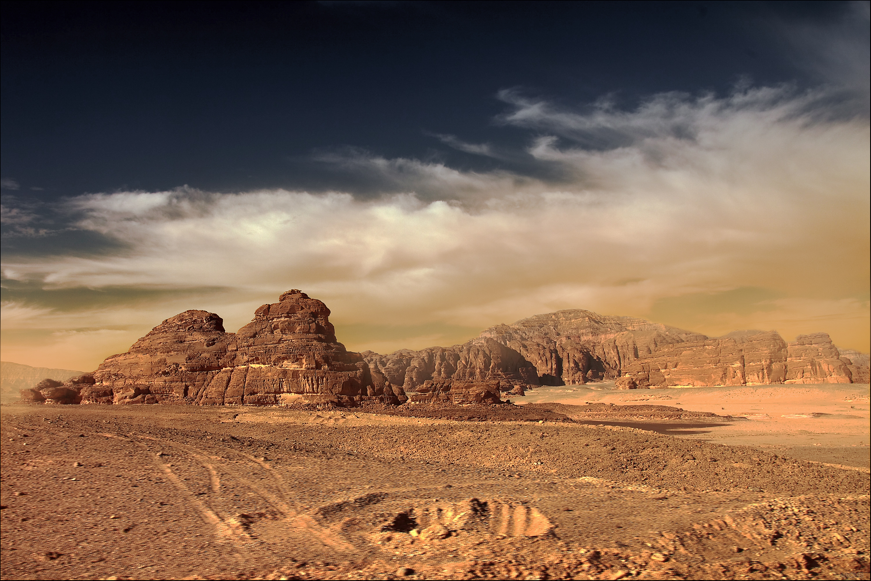 mars landscape background - HD 2560×1600