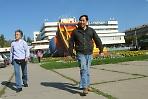 Туристы в нашем городе