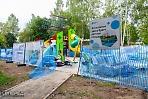 Завершается установка ещё одной детской площадки по губернаторской программе в Сергиевом Посаде