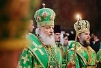 Патриарх Кирилл совершил всенощное бдение в Троице-Сергиевой лавре