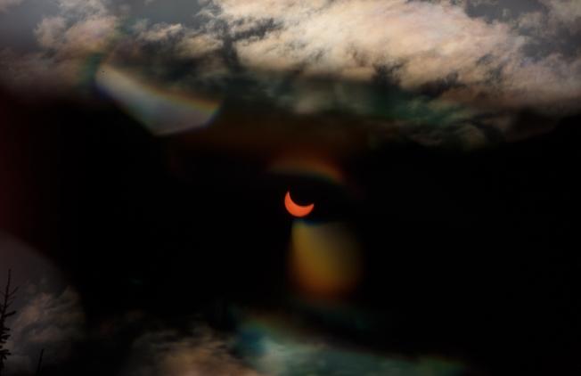 март 2015, солнечное затмение в Сергиевом Посаде