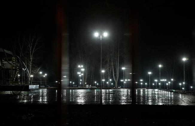 ноябрь 2015, освещение в парке Покровский