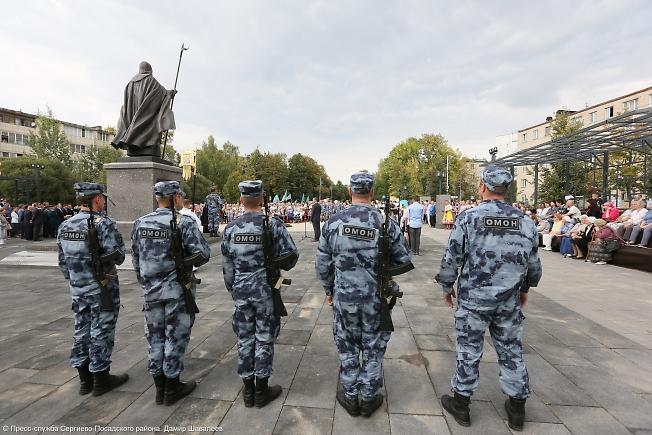 сентябрь 2019, открытие площади защитников в Пересвете.