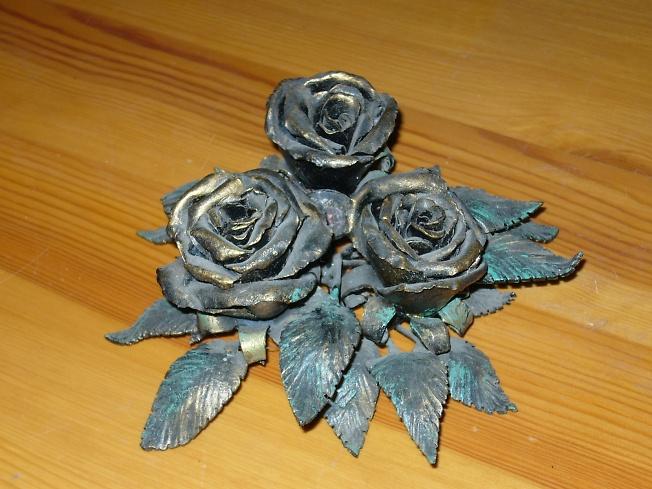 Цветы из метала своими руками фото