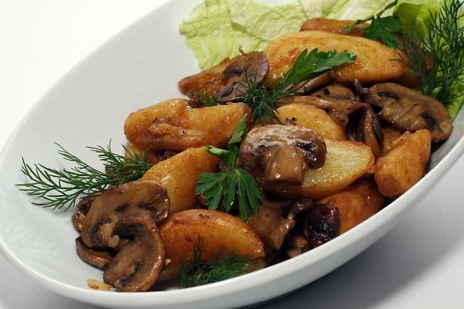 рецепт тушЮного картофеля с грибами #7