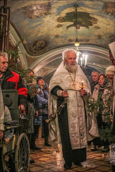 Всенощное бдение на праздник Рождества Христова в Казанском храме села Шеметово
