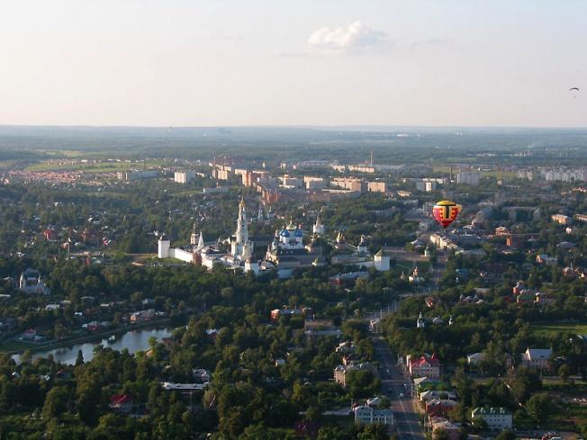 Вид на центр Сергиева Посада с юга