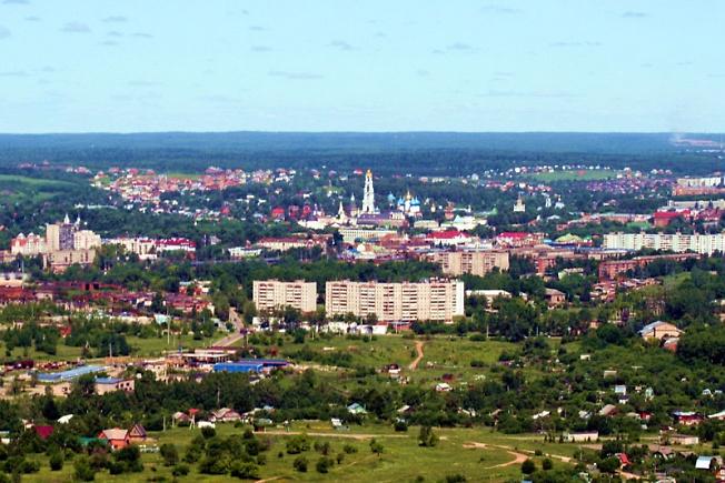 Вид на Сергиев Посад с юго-востока
