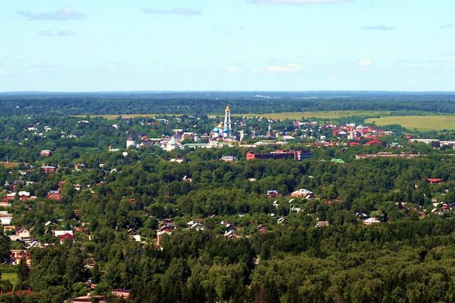 Вид на Сергиев Посад с востока