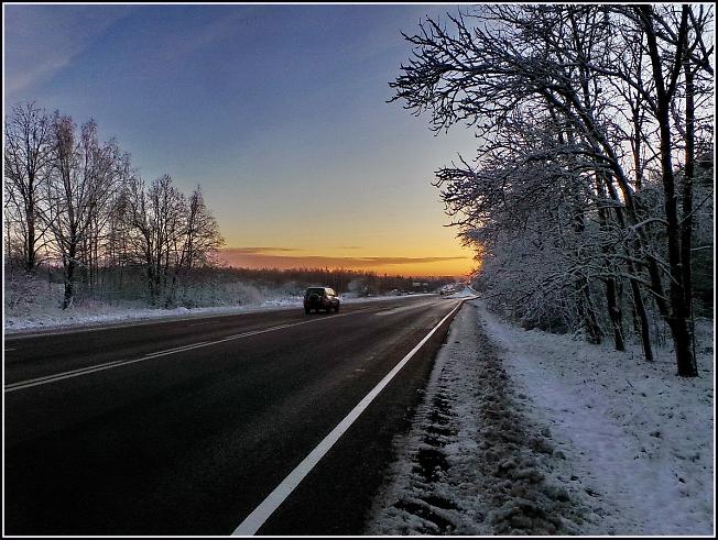 Вот и дорога уже зимняя
