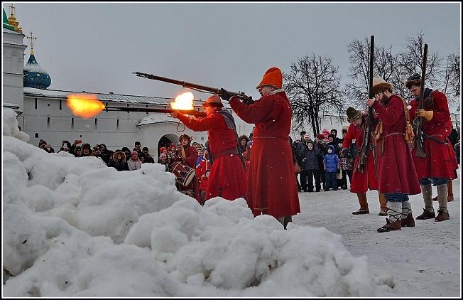 Стрельцы палят из мушкетов