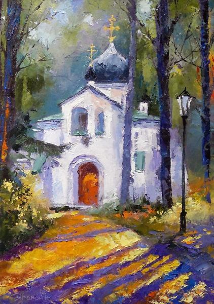 Спасская церковь в Абрамцево.