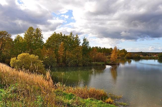 Осенний пруд недалеко от д. Гаврилково