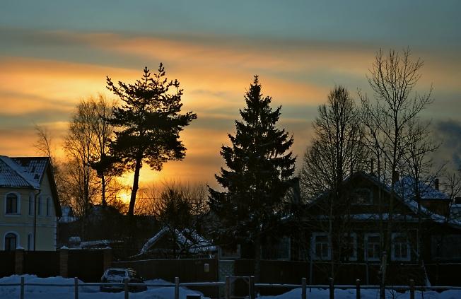 Морозный вечер перед Рождеством