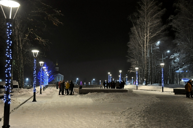 Пешеходная зона в центре Сергиева Посада