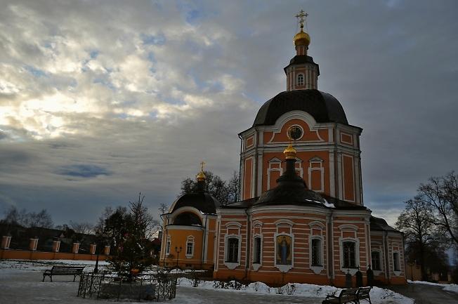 Успенский храм в день Рождества Христова