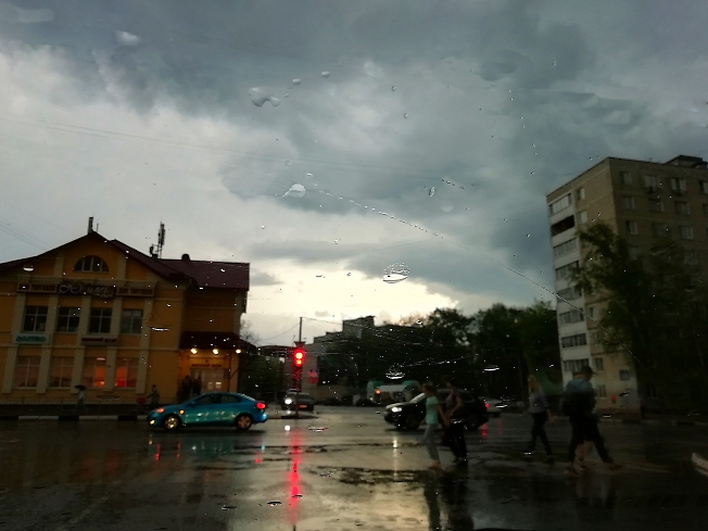 Акварель дождя