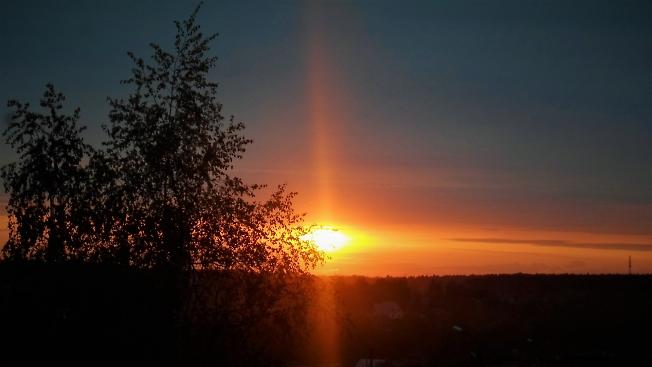 Закат под синеву небес