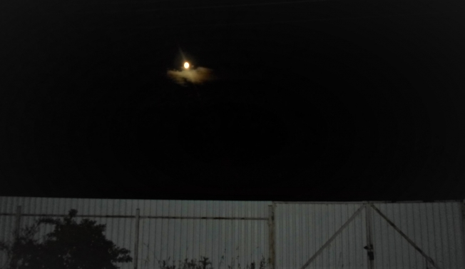 Луна на облачке