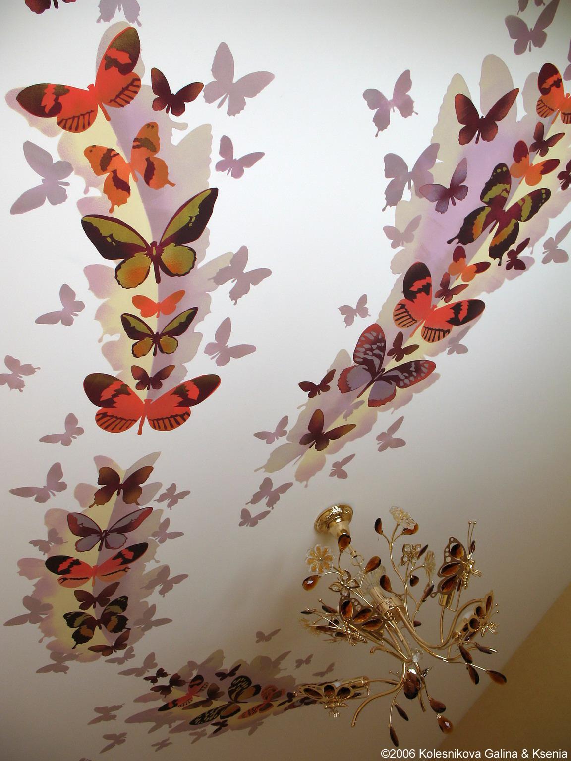 Интерьер из бабочек как сделать