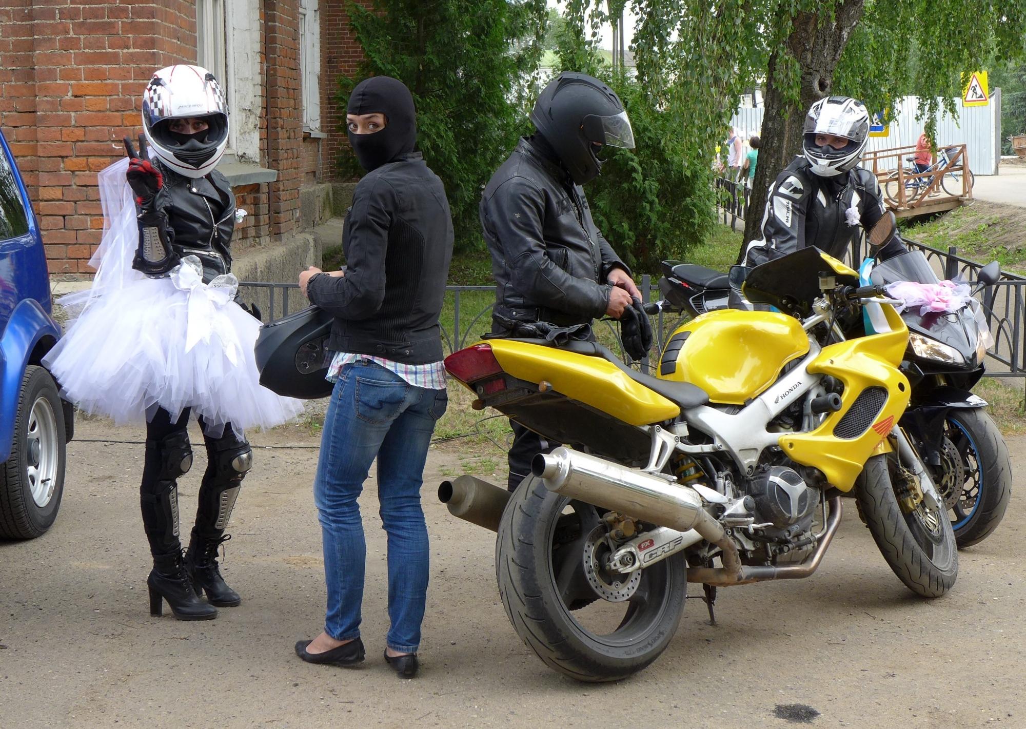 Свадьба на мотоциклах фото